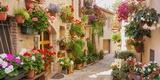 Репродукция картины Италия в цветах 100*50 см №2 К837