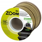 Уплотнитель Classic ZOOM коричневый D-профиль 100м (6)