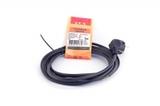 Сетевой шнур LUX V3ПВС 3*0,75 3м с вилкой с з/к черный