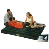 INTEX Кровать флок Downy, 99*191*22см, встр.насос, зеленый, 66927 359-065