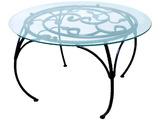 351-12 стол (стекло) d60см