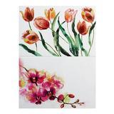 Салфетка сервировочная, плетеный ПВХ, 30x45см, Цветочная серия-2, 2 дизайна 890-305 Китай