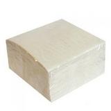 Салфетки бумажные 45шт, однослойные, 24*24см, белые, п/у 437-167