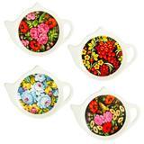 """Подставка для чайных пакетиков, керамика, 12х9,3х1,6см, 4 дизайна, """"Жостово"""" 824-712"""