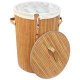 Корзина для белья BLB-01-L, бамбук, цвет: светлый, размер:34,5*50см, Китай