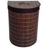Корзина для белья BLB-06-D, бамбук, цвет: тёмный, размер: 38*29*50см, Китай
