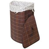 Корзина для белья BLB-07-D, бамбук, цвет: тёмный, размер: 35*35*50см, Китай