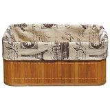 Корзинка бамбуковая с покрытием из натурального льна BLB-09-2, р-р 32*23*14, Китай