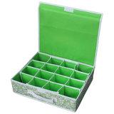 Коробка для хранения нижнего белья (16 ячеек) с откидной крышкой NWH-2, размер: 40x32x10см, Китай