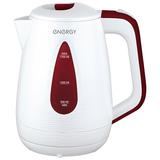 Чайник ENERGY E-214 (1,7л, диск) бело-бордовый 164092