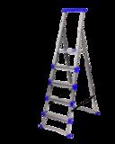 Стремянка широкие 5 ступеней (для рыхлых поверхностей) СМ5+