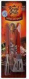 Набор акссесуаров д/гриля 3 пр. (вилка, лопатка, щипцы) 80-003  АКЦИЯ НА СТОЛОВЫЕ ПРИБОРЫ