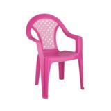 Кресло детское Плетенка розовый  (5) М2605
