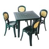 Стол квадратный темно-зелёный