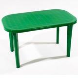 Стол овальный темно-зелёный