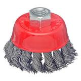 Щетка металл. для УШМ 65мм/М14 крученая (чашка),656-044 ЕРМАК