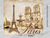 Фотообои бумажные 12л 294*260 Жемчужины Парижа А120, Россия Тула