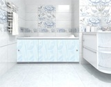 Экран для ванны, прямоугольный, 148*56,  голубой, универсальный, Премиум А, Россия