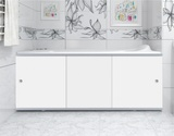 Экран для ванны, прямоугольный, 168*56, белый, универсальный, Премиум А, Россия