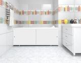 Экран для ванны, прямоугольный, 148*56, белый, универсальный, Кварт, Россия