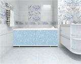 Экран для ванны, прямоугольный, 148*56, голубой иней, универсальный, Кварт, Россия