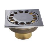 Трап латунный 100*100 выход 50мм вериткальный нижняя часть-бронза 00044 Санакс, Китай