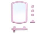 4602 набор для ванной BEROSSI розовый мрамор