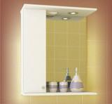 Зеркало-шкаф Уют 530, 530*190*720,  правое с подсветкой, MDW, Россия