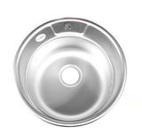 62278D мойка врезная 51см декор, 0,8мм, глубина 180мм + большой сифон с переливом