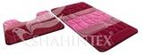 Набор ковриков для ванной комнаты PP MIX 4K 60*100+60*50см бордовый, Shahintex, Китай