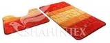 Набор ковриков для ванной комнаты PP MIX 4K 60*100+60*50см оранжевый, Shahintex, Китай