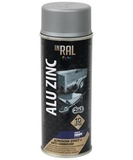 Эмаль аэрозольная INRAL ALU ZINC, алюминевая, 400мл, Россия