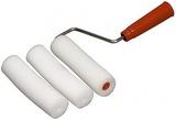Мини-валик поролоновый 14см с ручкой+2 запасные шубки 888 8153149