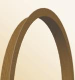 Угол арочный ПВХ (с текстурой) 20мм*10мм 2,7м орех темный